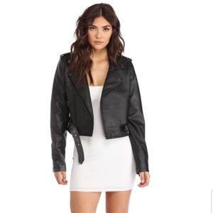 """""""CITY OF ANGLES"""" Leather Moto Jacket"""
